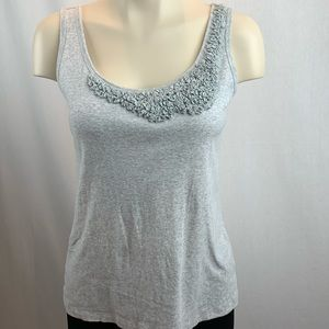Talbots Grey Tank Top with Detailing on Neckline